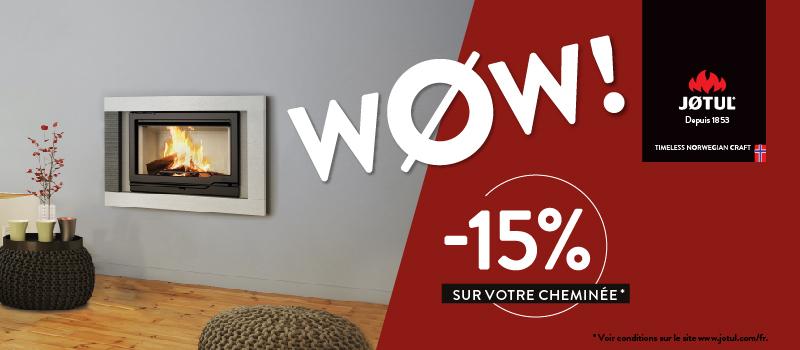 WØW!! En mai, choisis la cheminée qui te plaît…15% de remise sur toutes les cheminées Jøtul dans votre magasin Jøtul Saillagouse